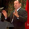 2-28-00---Dr. Harold C. Urschel speaks Monday to the Heart Association. Toni Moore