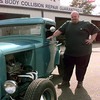 2-29-00---Jason Hutchison out in front of Hutch's on H80 in Longview. Kevin Green