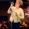 """D D Lindsey sings """"Someone to Watch Over Me"""" at the """"Where Were You in 42"""" clebration of the veterans of 1942 held at the Michelob Room Saturday evening.  by DARLENE-1-29-00"""