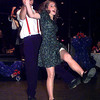 """Dancing duo Jeff Lewis and Jodi Heineman perform swing dancing with other youths during the """"Where Were You in 42"""" a celebration in honor of the veteran of 1942, held at the Michelob Room Saturday eveing.  by DARLENE-1-29-00"""