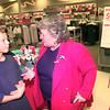 7-28-00---Trey Burda,11, of Longview, talks with Texas comptroller Carole Keeton Rylander, right, Friday afternoon at the Target store on Loop 281 in Longview. Kevin GReen
