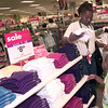 7-29-00---Rochell Slaughter,, left, shops with Tierra Chilton,7, right, of Longview, duirng Mervyn's Child Spree Saturday morning at Mervyn's in Longview. Kevin GReen