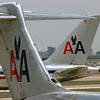 Two American Airlines jets on at DFW. Kevin Green