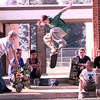 Skaters at Pine Tree High School in Longview. Kevin Green
