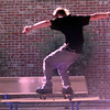 7-25-00---A skater skates at the Pine Tree Junior High School while the sign reads no skateboarding,  in Longview. Kevin GReen