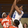 11-30-00---Mineola's #45 trys to block Spring Hill's #24, right, during a game Thursday afternoon at Spring Hill in Longview. Kevin green