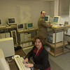 11-22-00---Suzanne Bickham, left, and Mike Brown, right, at Expert Computing in Longview. Kevin green