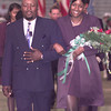 9-29-00---Lashonda Stinson, right, was named homecoming queen during Friday night's game at Longview. She is escorted by Howard Stinson. Kevin GReen