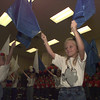 "Spring Hill Primary's dedication and openhouse was held Saturday morning with patriotic performances from first and second graders.  Here Katie Medley,right, along with classmates perform with flags to ""Grand Ole Flag"".   byDARLENE-9-30-00"