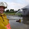 Longview Fire Department asst.  chief Bill Parrymore at last weeks fire on Tryon RD. in Gregg County. Darlene