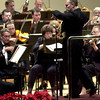 Conductor Tonu Kalam leads the Longview Symphony Orchestra  during a show Saturday December 29, 2001 at T.G. Field Auditorium in Longview. Kevin Green