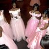 The Roses of the Rose Cotillion visit prior to being introduced Saturday December 29, 2001 at Maude Cobb in Longview. Kevin Green