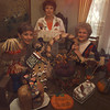 Christian Women's Club members from left, Rose Marie Jones, Lucinda Hamilton, and Nancy Holly displays items that will be available at their annual auction fund raiser that will be held at the Summit II on November 8th.  by DARLENE-10-29-01