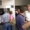 Longview Amtrak station manager Griff Hubbard, right, answers questions from passengers of a derailed train Tuesday September 11, 2001 at Maude Cobb Convention Centewr in Longview. Kevin green