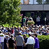LeTourneau University faculty and students join hands as they pray for victims and families of victims from the attacks on America Tuesday Septmenber 11, 2001 at the colleg in Longview. Kevin green