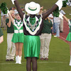 Longview High School male viewette Bryan Smith  at LOBO Stadium August 30, 2002  in Longview. Les Hassell