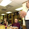 Inman White, far left Executive Director of Sabine Vally Center, congratulates  proerty managers and owners on working to provide decent housing and suitable living enviroment for the homeless at the Sabine Valley Center Homeless Consortium Awards Luncheon Monday July 29,2002. Ricardo B.Brazziell