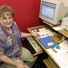 Debbie Puckett sits at her desk. Puckett is the founder of a non-porfit organization Real Jobs For Youth that helps people with developmental disabilities.June 25.2002 Ricardo B.Brazziell