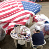 Retailers set up shop along the downtown streets during the Old Glory Day festival in Carthage Saturday June 29, 2002. Les Hassell