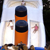 Area undergrads slide down the Titanic Slide at Undergrad 2002. Les Hassell