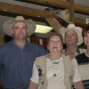 5-20-02 ----- (left to right) Mike Helms, Carolyn Helms, Childress Helms, and Jeanie Gibson at C&C Western Wear.  Childress and Carolyn own the store, and their children Mike and Jeannie work there.   JUSTIN BAKER
