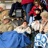 Fans sit in the cold weather during a Kilgore Bulldogs baseball game Friday 2-28-03. Ricardo B.Brazziell