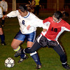 #6 of Pinetree defenes the ball against #19 of Kilgore Thursday night.2-27-03. Ricardo B.Brazziell