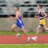 Pine Tree High School senior Sean O'Brien runs in the 300 meter relay Friday February 28, 2003 in Longview. Kevin green