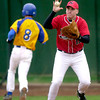 Clat Swetman of Kilgore  make a catch on second base for the out friday 2-28-03. Ricardo B.Brazziell