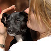 Bridget Stone plays with Pepper, a young terrier Saturday March 29, 2003 during Paws on the Bayou in Jefferson. Les Hassell