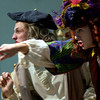 Longview High School's Blake Robey, right, and Mark Wilson rehearse before a performance Monday March 31, 2003. The LHS one-act play production won a number of awards last week including Best Actor and Best Play. Les Hassell