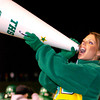 Varsity Cheerleader Texana Parks cheers on the Tatum Eagles during the first half of Friday's November 28, 2003 playoff game against the Gilmer Buckeyes in Tyler's Rose Stadium. (Les Hassell/News-Journal Photo)
