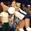 Pine Tree's #20 misses a return during Tuesday's September 30, 2003 match against Marshall. (Les Hassell/News-Journal Photo)