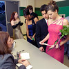 LHS students check in before Saturday's, February 28, 2004 Senior Celebration at Longview High School. (Les Hassell/News-Journal Photo)