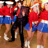 Members of the Kilgore College Rangerettes strut their stuff with Elvis impersonator Jerry Meyer at the Las Vegas-themed Laird Memorial Hospital Foundation Annual Gala Saturday, January 31, 2004 in Kilgore. (Les Hassell/News-Journal Photo)