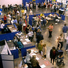 Crowds gather at the job fair Tuesday March 30, 2004 at Maude Cobb Comvention Center in Longview. Kevin green