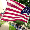 American flags wave during Memorial Day ceremony held at Gregg County Courthouse lawn May 31, 2004.(Darlene Chapman-davis/News-Journal Photo)