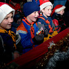 Hallsville Pack 302 Tiger Cubs get ready to participate in the annual Hallsville Christmas Parade on Tuesday night along Highway 80.  Pack 302 threw bags of candy to the crowd from their float.  (Jennifer Soliz/News-Journal Photo)