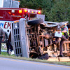 DPS troopers investigate the scene of an accident on I-20, north of Kilgore, Sunday, October 31, 2004. Ten (???) members of a Kilgore church were transported to the hospital. (Les Hassell/News-Journal Photo)
