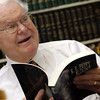 R.E. Peppy Blount in his Longview office Tuesday, April 26, 2005. (Les Hassell/News-Journal Photo)
