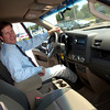 Brew Honda owner David Houston sits in a Honda Ridgeline truck Tuesday, August 30, 2005 at the dealership in Longview.