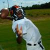 Gilmer High School quarter back Jamell Kennedy passes during practice at Gilmer High School, Wednesday August , 31, 2005(Ricardo B. Brazziell/News-Journal)
