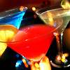 (left to right) Blue Sky, Cosmopolitan and a Green Apple Martini Monday, February 28, 2005 at Gerard's. (Les Hassell/News-Journal Photo)