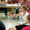 Magnet school trainer Margo Fortune leads a training session Wednesday, June 29, 2005 at J.L. Everhart in Longview.  (Kevin Green/News-Journal Photo)