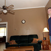 Clif Baggett gives a tour of his downtown apartment in the Lee Guice building.  (Kevin Green/News-Journal Photo)