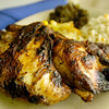 Jerk Chicken platter at Lydia's Caribbean Cuisine (Ricardo B. Brazziell/News Journal Photo)