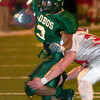 Longview Lobos Vondrell McGee runs for a touchdown during action Friday, September 30, 2005 against Mesquite Horn in Longview.  (Kevin Green/News-Journal Photo)