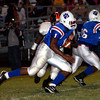 Germayne Edmond of Daingerfield rushes for yardage against the Gilmer Buckeyes during the game Friday, September 30, 2005 in Daingerfield. (Matt Boggs/News-Journal photo)