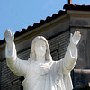 A Statue of Jesus rests a top a collom out side of St. Anthony's Church on Friday, Septemeber 30, 2005 in Longview.(Courtney Case/News-Journal Photo)