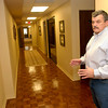 Ronald Weaver owner of the Weaver building shows the third floor after the construction, Friday September 30, 2005 in Longview.  (Kevin Green/News-Journal Photo)